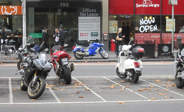 "The City of Melbourne Council have shared their ""Draft Transport Strategy 2030 Motorbikes"". ""We want to maximise space for pedestrians, we're planning to provide 300 more on-street motorcycle parking bays as an alternative to parking on footpaths"". Read on for VMC's view of this."